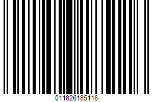 Aged Cow Milk Cheese UPC Bar Code UPC: 011826185116