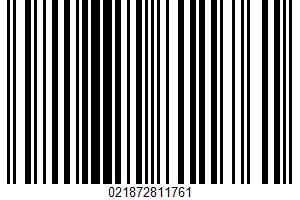 Aerated Water UPC Bar Code UPC: 021872811761