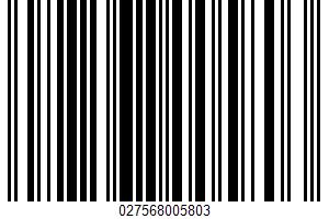 A Mild Semi-soft White Cheese UPC Bar Code UPC: 027568005803