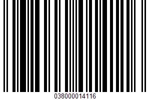 A Wheat Bran Cereal UPC Bar Code UPC: 038000014116