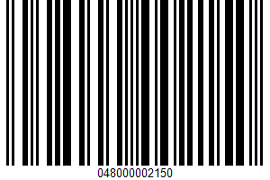 Albacore Tuna In Pure Olive Oil UPC Bar Code UPC: 048000002150