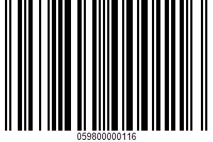 Aero UPC Bar Code UPC: 059800000116