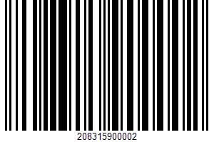Ahold, Premium Pastrami UPC Bar Code UPC: 208315900002