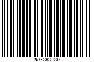 Ahold, World Menu, Italian Shredded Cheese UPC Bar Code UPC: 258800000007