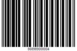 Tortilla Chips UPC Bar Code UPC: 868989000004