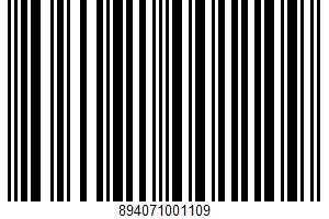Parmigiano Reggiano UPC Bar Code UPC: 894071001109